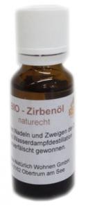 20 ml Flasche mit naturreinem Zirbenöl